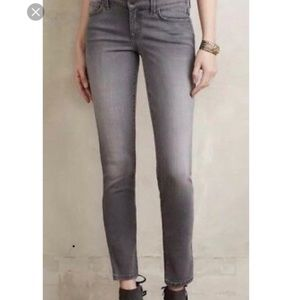 Level 99 Lily Crop Skinny Jeans Distressed Gray